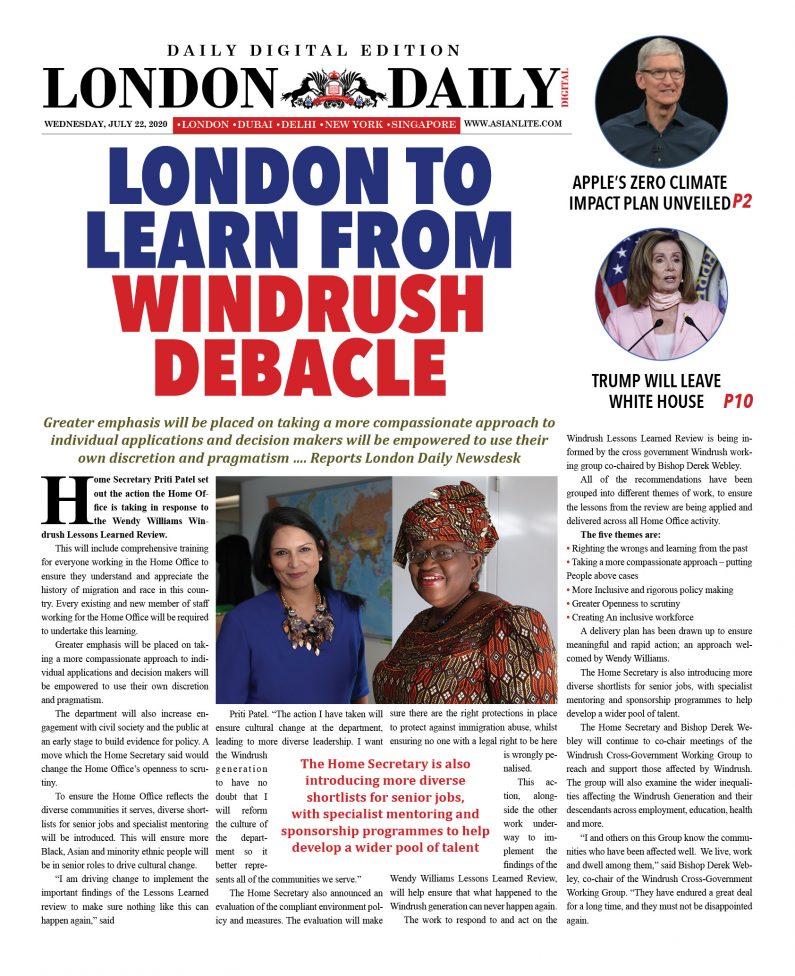 London DD – July 22, 2020