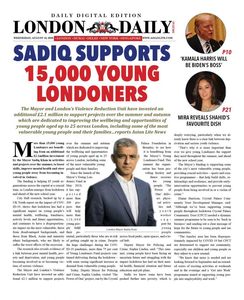 London DD – Aug 19, 2020