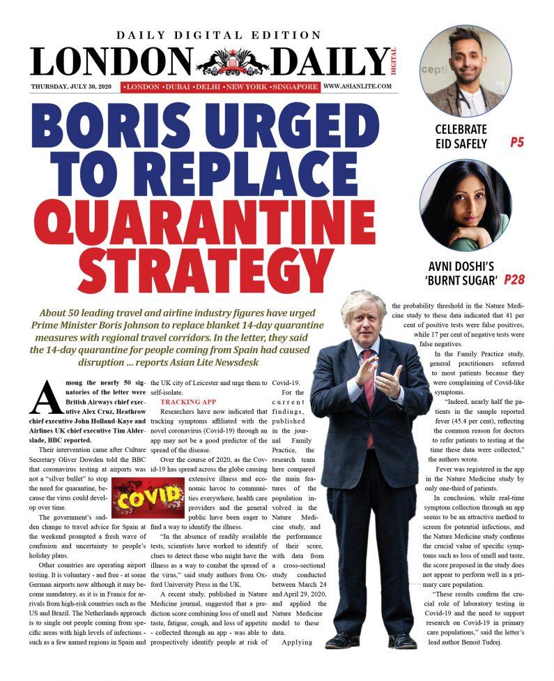 London DD – July 30, 2020