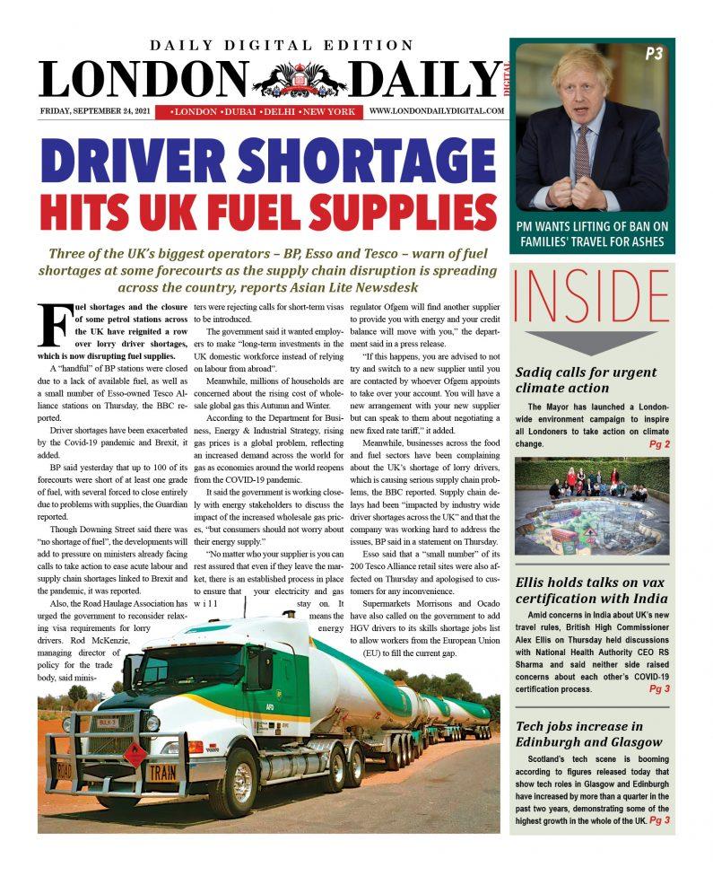 London Daily DD – September 24, 2021